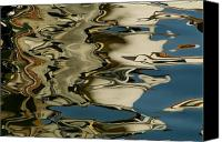European Union Canvas Prints - Abstract Reflections Formed By Rippling Canvas Print by Todd Gipstein