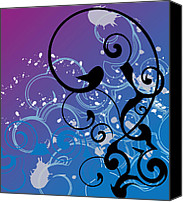 Featured Digital Art Canvas Prints - Abstract Swirl Canvas Print by Mellisa Ward