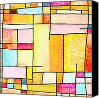 Backdrop Pastels Canvas Prints - Abstract Town Canvas Print by Setsiri Silapasuwanchai