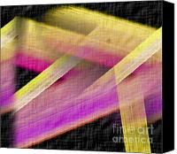 John Krakora Art Canvas Prints - Abstract with a Black Background Canvas Print by John Krakora