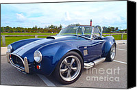 Blue Ford Canvas Prints - AC Cobra Canvas Print by Carey Chen