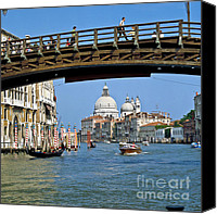 Architecture Photo Canvas Prints - Accademia Bridge in Venice Italy Canvas Print by Heiko Koehrer-Wagner
