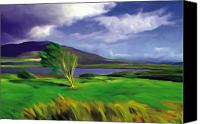 Achill Island Canvas Prints - Achill Island Ireland  sunny Canvas Print by Bob Salo