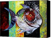 Fish Art Canvas Prints - AcidFish 70 Canvas Print by J Vincent Scarpace