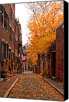Beacon Canvas Prints - Acorn St. Canvas Print by Joann Vitali