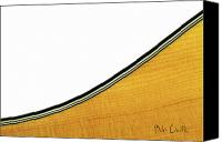 Guitar Canvas Prints - Acoustic Curve Canvas Print by Bob Orsillo
