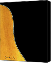 Music Canvas Prints - Acoustic Curve In Black Canvas Print by Bob Orsillo
