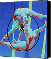 Acrobats Canvas Prints - Acrobats Canvas Print by Kevin Lawrence Leveque