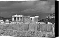 Acropolis Canvas Prints - Acropolis Canvas Print by Gabriela Insuratelu