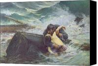 Shipwreck Painting Canvas Prints - Adieu Canvas Print by Alfred Guillou