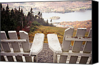 Absence Canvas Prints - Adirondack Chair On Mountain Top Canvas Print by Angela Auclair