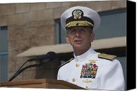Merit Photo Canvas Prints - Admiral Eric Olson Speaks Canvas Print by Michael Wood