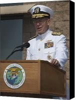 Merit Photo Canvas Prints - Admiral Mike Mullen Speaks Canvas Print by Michael Wood