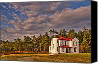 Puget Sound Canvas Prints - Admiralty Head Lighthouse Canvas Print by Dan Mihai