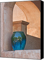 Tlaquepaque Canvas Prints - Adobe Stoneware Canvas Print by Jeffrey Campbell