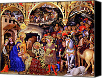 Magi Canvas Prints - Adoration of the Kings Canvas Print by Gentile da Fabriano