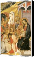 Magi Canvas Prints - Adoration of the Magi Canvas Print by Bartolo Di Fredi