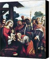Magi Canvas Prints - Adoration Of The Magi Canvas Print by Granger
