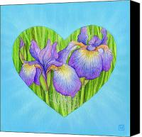 Flora Pastels Canvas Prints - Adree Canvas Print by Lisa Kretchman