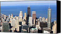 Chicago Canvas Prints - Aerial View Of Chicago Canvas Print by Luiz Felipe Castro