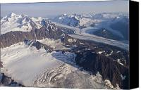 Harvard Canvas Prints - Aerial View Of Harvard Glacier Canvas Print by Rich Reid