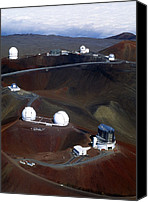 Mauna Kea Canvas Prints - Aerial View Of Observatories At Mauna Kea, Hawaii Canvas Print by John Sanford