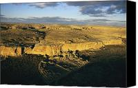 Ruins Canvas Prints - Aerial View Of Pueblo Bonito In Chaco Canvas Print by Ira Block
