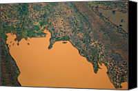 Mud Canvas Prints - Aerial View Of Uncultivated Landscape Canvas Print by Tobias Titz