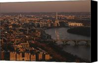 Skylines Canvas Prints - Aerial View Of Washington, D.c Canvas Print by Kenneth Garrett