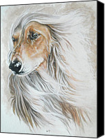 Pets Canvas Prints - Afghan Hound Canvas Print by Barbara Keith