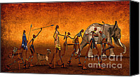 3d Graphic Canvas Prints - Africa Canvas Print by Jutta Maria Pusl