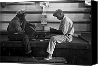 African Americans Canvas Prints - African American Young Men Play A Card Canvas Print by Everett