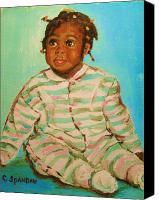 Transform Painting Canvas Prints - African Cutie Canvas Print by Carole Spandau