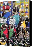 Tribe Canvas Prints - African Dolls Canvas Print by Neil Overy