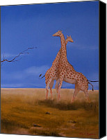 Paul Morgan Canvas Prints - African Hug Canvas Print by Paul Morgan