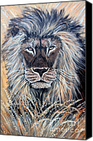 Lion Painting Canvas Prints - African Lion Canvas Print by Nick Gustafson