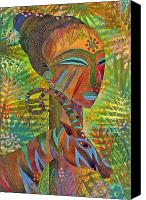 Exotic Canvas Prints - African Queens Canvas Print by Jennifer Baird