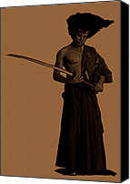 Dh Canvas Prints - Afro Samurai Canvas Print by Donell Hagan