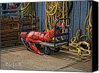 Rope Canvas Prints - After a hard day at Sea Canvas Print by Bob Orsillo