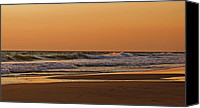 Beaches Canvas Prints - After A Sunset Canvas Print by Sandy Keeton