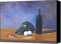 Augusta Golf Painting Canvas Prints - After Eighteen Canvas Print by Jerry Walker
