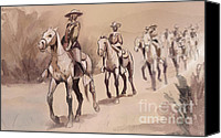 Remington Canvas Prints - After In The Desert by Frederic Remington Canvas Print by Kate Black
