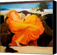 Flaming June Canvas Prints - After Leighton   flaming June Canvas Print by Jennifer  Blenkinsopp