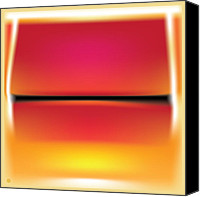 Airbrush Art Digital Art Canvas Prints - After Rothko Canvas Print by Gary Grayson