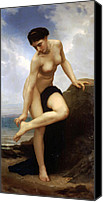 1875 Canvas Prints - After the bath 1875 Canvas Print by Stefan Kuhn