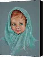 Wet Pastels Canvas Prints - After The Bath Canvas Print by Pamela Mccabe