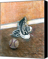 Baseball Canvas Prints - After The Game Canvas Print by Arline Wagner