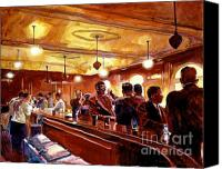 Bars Canvas Prints - After The Market Closes Canvas Print by David Lloyd Glover