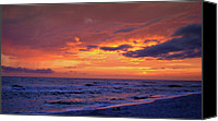 Panama City Beach Fl Canvas Prints - After the Sunset Canvas Print by Sandy Keeton