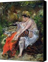 Exposed Canvas Prints - After The Swim Canvas Print by Lovis Corinth
